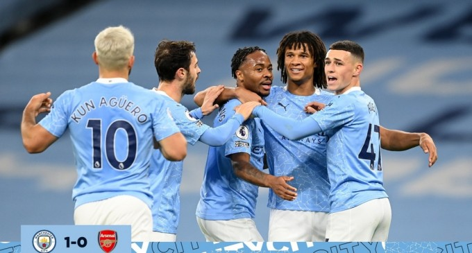 ​Premier League: Manchester City vs Arsenal 1-0 / Raheem Sterling, omul meciului – Fotbal