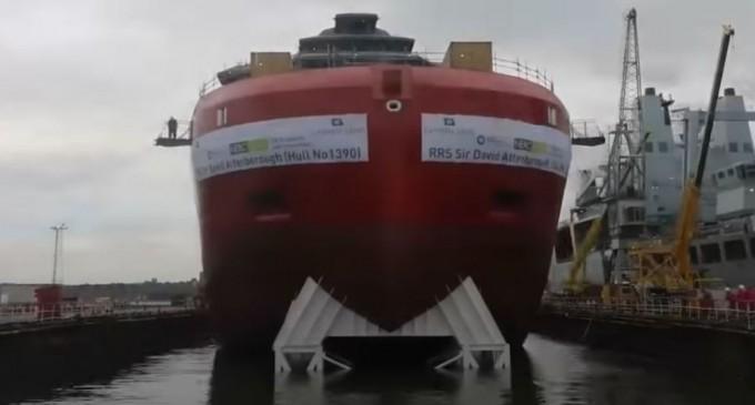 VIDEO RRS Attenborough, cea mai avansată navă de cercetare polară din Marea Britanie, la primele teste – Tehnologie