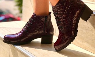 Botine din piele din materiale exceptionale