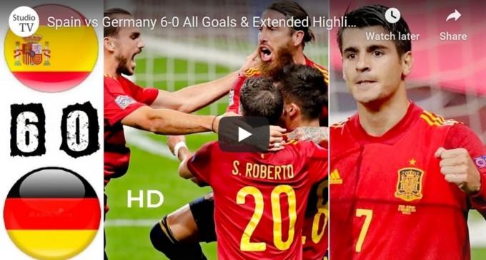 VIDEO Liga Națiunilor: Germania, zdrobită de Spania: 6-0 – Fotbal