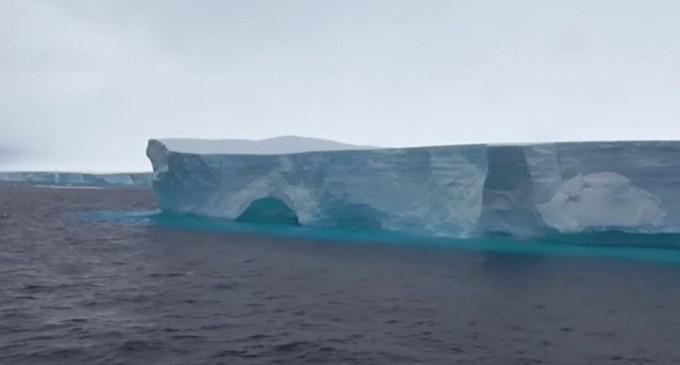 VIDEO Cel mai mare aisberg din lume se îndreaptă către Georgia de Sud – Terra