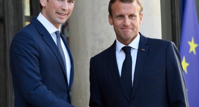 """Emmanuel Macron şi Sebastian Kurz vor discuta la Viena """"iniţiative europene comune împotriva terorismului islamic"""" – International"""