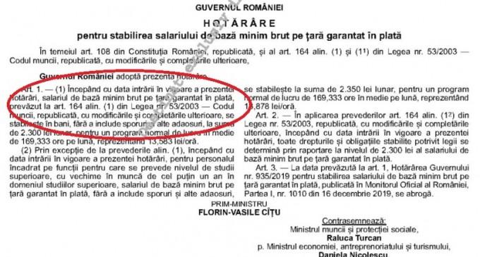 Salariul minim 2021, în Monitorul oficial. Nu se aplică de la 1 ianuarie, că așa a fost scris actul. Cornel Grama: Dacă sunt patroni care vor să respecte legea la virgulă, vor mări din 13 ianuarie – Finante & Banci