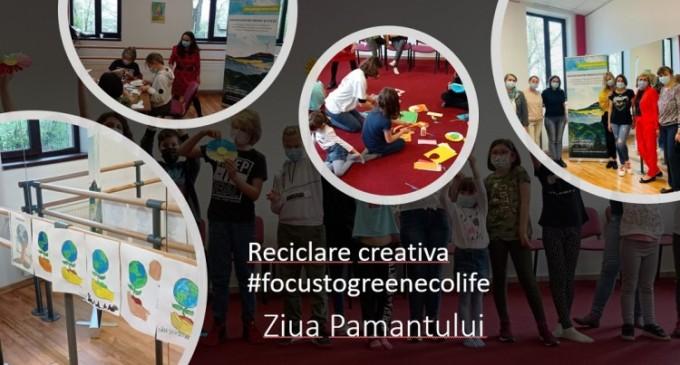 Reciclare creativa #focustogreenecolife dedicata Pamantului